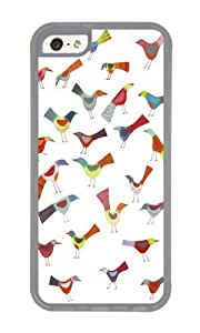 Apple Iphone 5C Case,WENJORS Adorable Birds doing bird things Soft Case Protective Shell Cell Phone Cover For Apple Iphone 5C - TPU Transparent