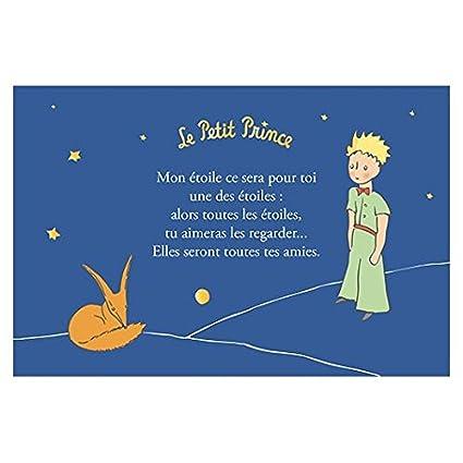 Kiub Carte Horizontale Dorée Le Petit Prince 10x15 Cm Mon