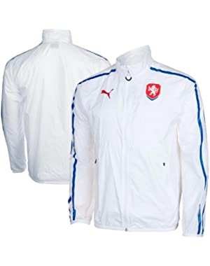 Men's Czech Republic Walk Out Full Zip Jacket White