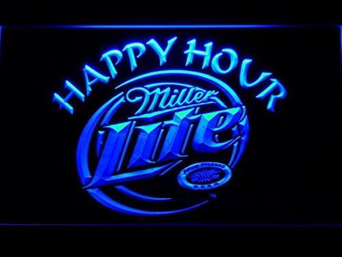 Amazon.com: Miller Lite Happy Hour Beer Bar LED Luz de Neón ...