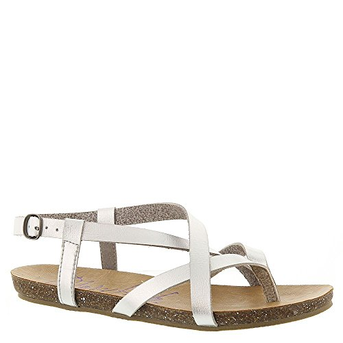 Blowfish Women's Granola Fisherman Sandal,Silver Dyecut Pu,10