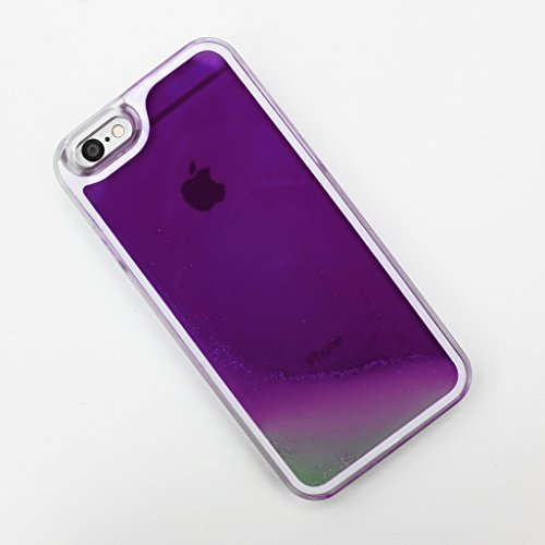 Purple Glow in the Dark Liquid iPhone 6 6S - Case Dark Purple