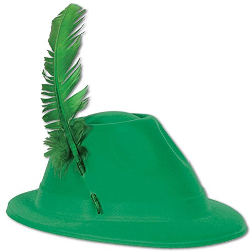 Club Pack of 48 Festive St. Patrick's Day Green Velour Alpine Party Hats by Party Central