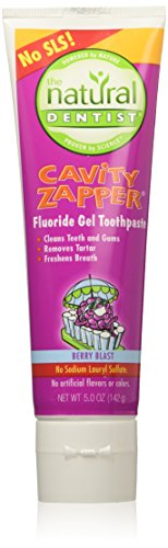 Natural Dentist Child Cavity Zapper Fluoride Gel Toothpaste, Berry Blast 5 oz.