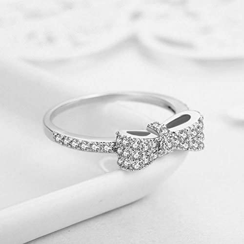 Topcloud Fashion Cute Bow Knot Rings for Girls Women Luxury Design Engagement Wedding Rings