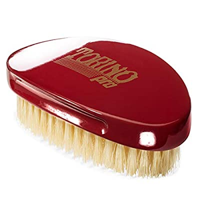 Torino Pro Wave Brush #1500 - By Brush King - Curved, Medium Palm/Military 360 Waves Brush