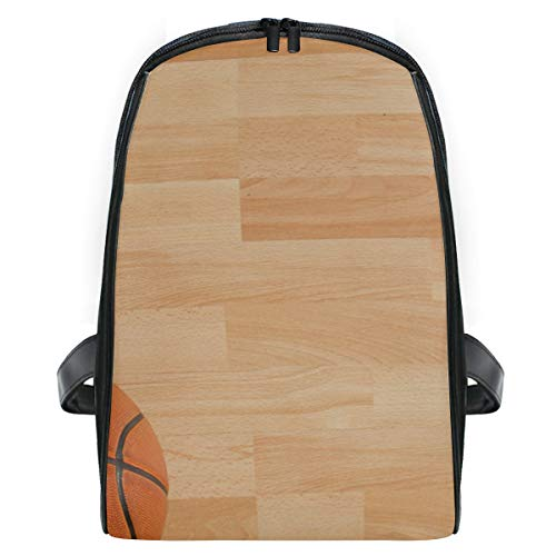 (Backpack Basketball Court Personalized Shoulders Bag Classic Lightweight Daypack)