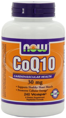 NOW Foods Coq10 30 мг, 240 Vcaps