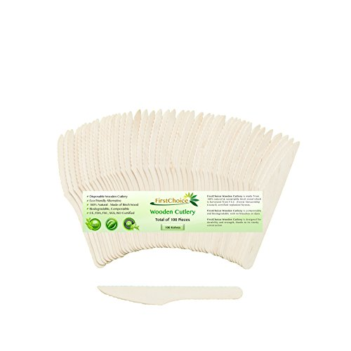 Disposable Wooden Knives Biodegradable Compostable product image