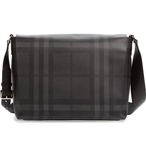 Burberry Gray Check Messenger - Burberry Black Belt