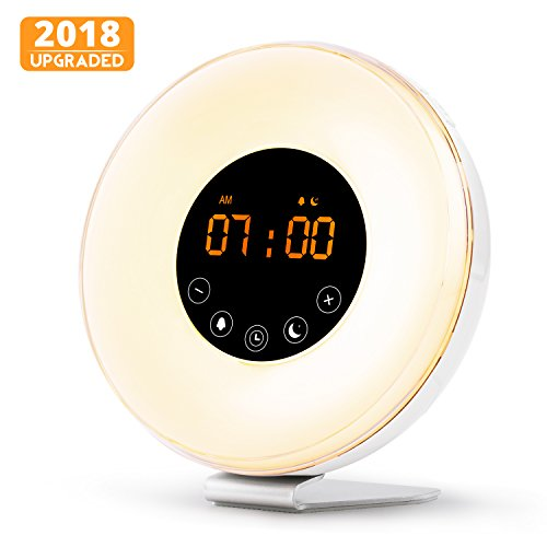 Wake Up Light Alarm Clock, Digital Sunrise Alarm Clock