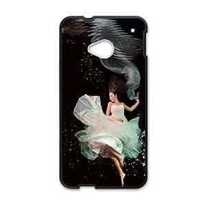 HTC One M7 Cell Phone Case Black_Underwater dancers Lkpxo