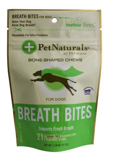 Pet Naturals Breath Bites for Dogs (21 count) by Pet Naturals Of Vermont [Pet Supplies]