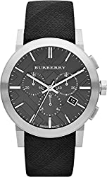 Burberry Watch, Women's Swiss Chronograph Beat Check Fabric Strap 42mm BU9359