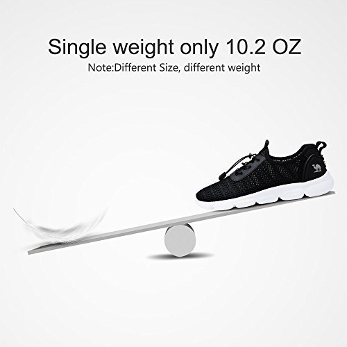 Camel Mens Lightweight Mesh Shoes Breathable Casual Running Shoes for Walking Athletic Outdoor 6.5 US/245 Black