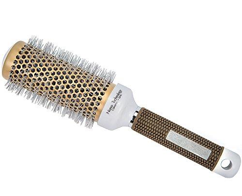 Minalo Anti Static Nano Ionic & Thermic Ceramic Hair Brush,Barrel Round,2 inch