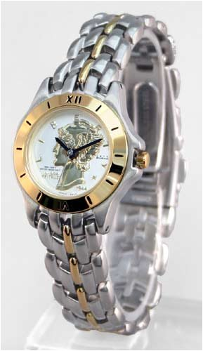 ANTON RUSANO Women's Two-tone Coin Faced - Tone Round Faced Watch Shopping Results