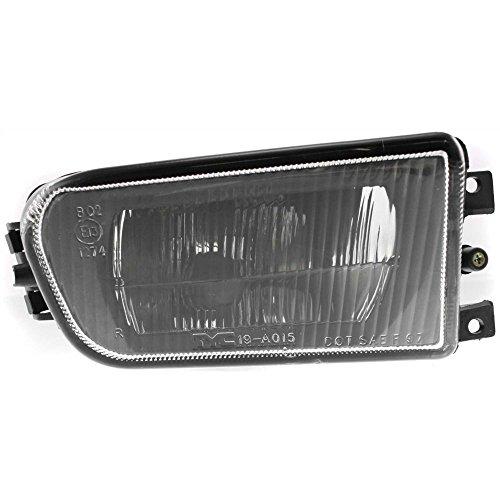 Evan-Fischer EVA12872018900 Clear Lens Fog Light for 98-00 BMW 528i 97-00 540i RH Plastic Lens w/Bulb