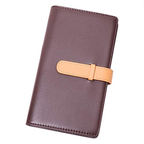 Unisex Business Card Holder Book Multi Card Bank Card Package 62 Bit Suitable for Office Workers Coffee