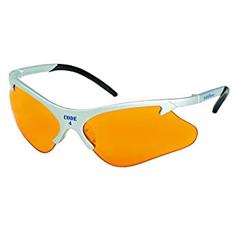 Smith & Wesson 19835 Code 4 Safety Glasses, Orange Lenses with Platinum Frame