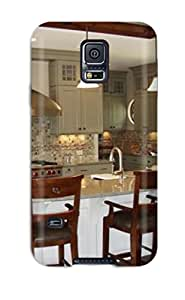 Premium Tpu Kitchen With Two-toned Cabinetry And Tile Backsplash Cover Skin For Galaxy S5