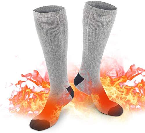 ZINE Elektrische verwarmde sokken met oplaadbare batterij, wasbare verwarmingssokken met 3 temperatuur houden de voet…