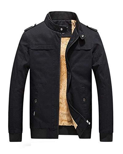 Huixin Del Capispalla Da Invernale Uomo Cappotto Basamento Caldo Giacca Manica Parka Addensare Schwarz Collare Lunga Abbigliamento SqP4z6