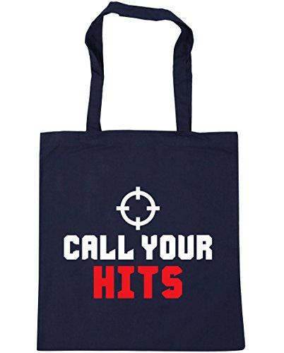 HippoWarehouse Call su Hits Tote Compras Bolsa de playa 42cm x38cm, 10litros azul marino