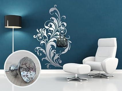 Appendiabiti Con Pomelli.00506 Adesivo Murale Con Pomelli Stile Swarovski Per Appendiabiti