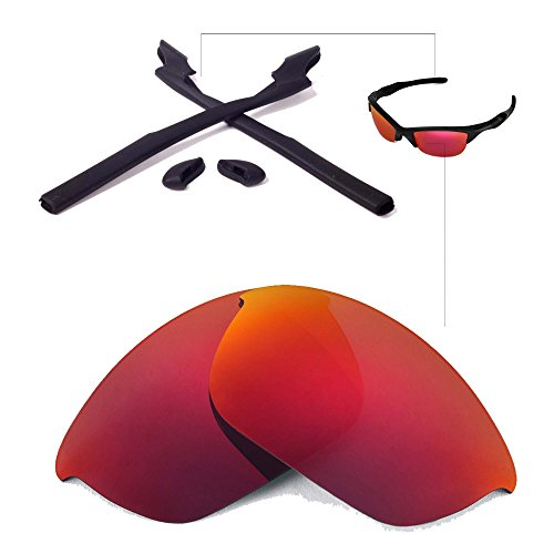 Walleva Replacement Lenses Or Lenses/Rubber for Oakley Half Jacket 2.0 Sunglasses - 41 Options Available