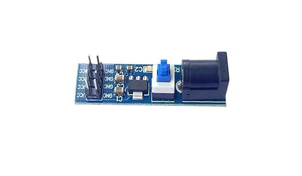 Providethebest AMS1117 5V DC regulador de Voltaje Bajada módulo de alimentación 6.5V-12V a 5V: Amazon.es: Electrónica