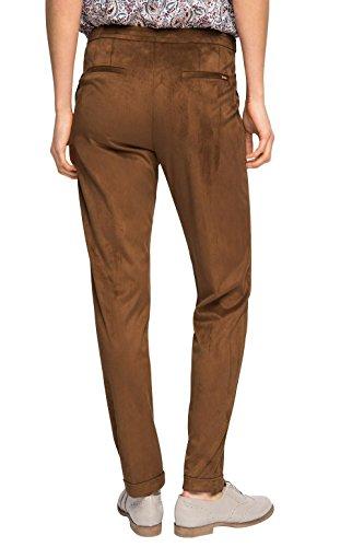 Collection Mujer Braun Para Pantalones Wildlederoptik Esprit 225 In toffee USqZww