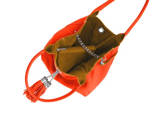 femme Orange main pour bijoux à Sac Orange scarlet wqFXxH0