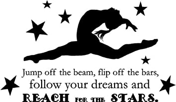 Gymnastics Quote   Girlu0027s Vinyl Bedroom Decor | U0026quot;Jump Off The Beam,  Flip