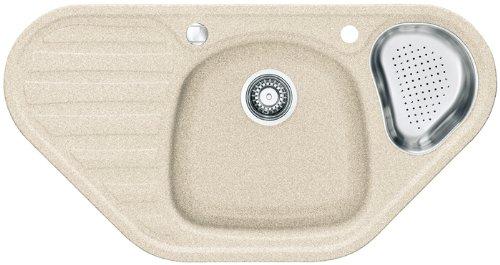 Franke Calypso COG 651-E Beige Granit Eck-Spüle Küchenspüle Einbauspüle Auflage