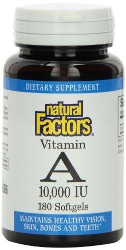 Natural Factors Vitamin A 10000 IU Softgels, 180-Count by Natural Factors