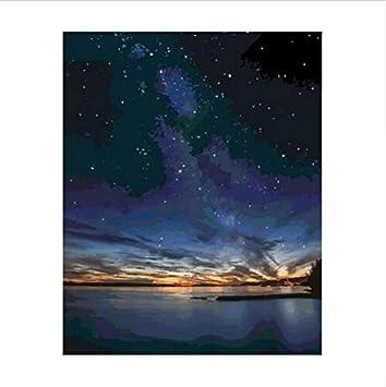 Hllcy Malen Nach Zahlen Schöne Sternenhimmel Universum Galaxy Aurora