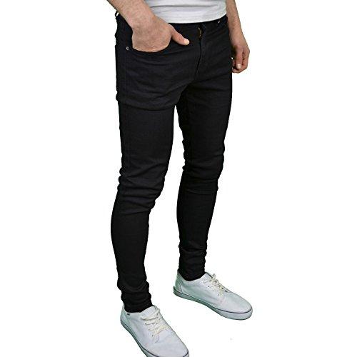 Fit Enzo de Jeans Stretch hombre funda Skinny Negro Super para aqw0qrvx