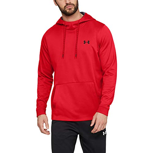 - Under Armour Men's Armour Fleece Pullover Hoodie, Red (600)/Black, XX-Large