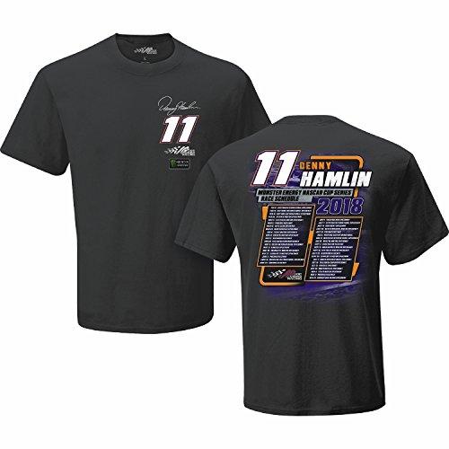Denny Hamlin 2018 Monster Energy NASCAR Cup Series Schedule T-Shirt (XLarge)