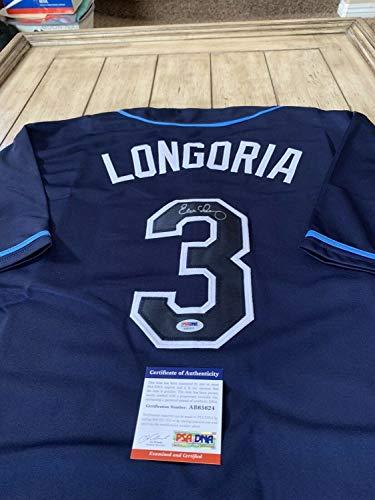 Evan Longoria Autographed Signed Memorabilia Jersey PSA/DNA Coa Tampa Bay Rays