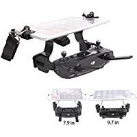 Joint Victory Mavic Pro Spark Remote Controller 7.9in 9.7in Tablet Support Bracket Holder Clamp with Dual Rings Wont Block Screen (Black)
