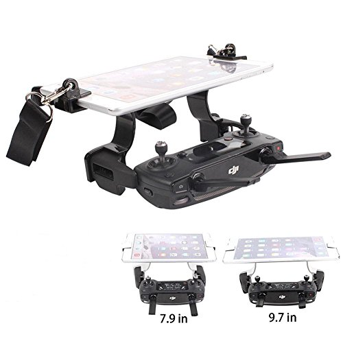 Joint Victory Mavic Pro Spark Remote Controller 7.9in 9.7in Tablet Support Bracket Holder Clamp with Dual Rings Won't Block Screen (Black) by Joint Victory