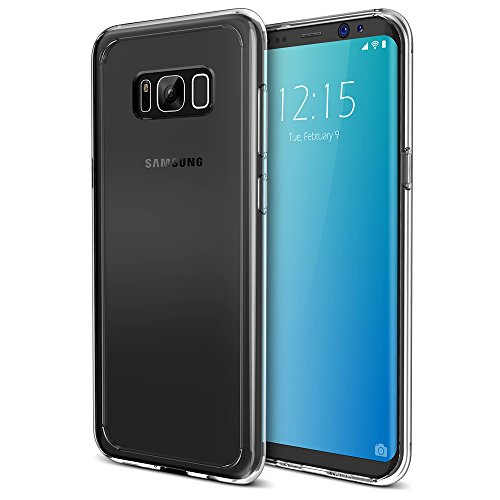 Galaxy S8 Case, Trianium [Clarium Series] Samsung Galaxy s8 Cover Hybrid Clear Case [Scratch Resistant] Integrated Ergonomic Shock-Absorbing Bumper + PC Hard Back Panel 2017