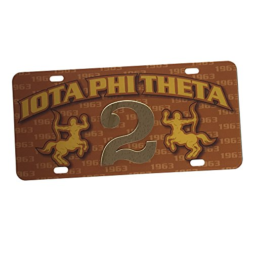 Iota Phi Theta Fraternity Line #2 Numbered Car Tag Line Number Acrylic Printed Decorative Tag For Front Back of - Of Memphis Infiniti Parts