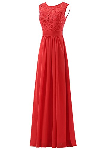 Dresses Lace Back Diamond Party Bridesmaid Women's Back Diamond Line Dress A Red DYS Prom Un84qwZ5v