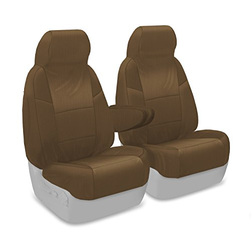 Coverking Custom Fit Front 50/50 Bucket Seat Cover for Select Ford Excursion Models - Ballistic (Tan) ()