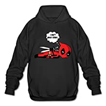 Men's Deadpool I Cant Adult Today Pullover Hooded Sweatshirt