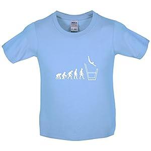 Kinder T-Shirt - Evolution of Man - Stufenbarren - 8 Farben - 3-14 Jahre -...