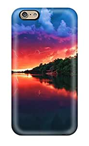 New Premium Flip Case Cover Amazing Red Sky Skin Case For Iphone 6